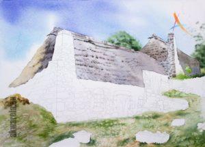 malowanie nieba akwarelami