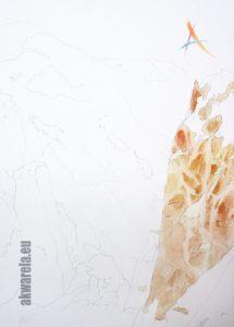I faza malowania skał