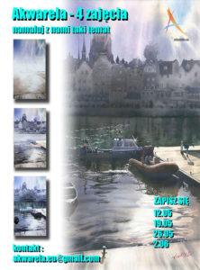 Malowanie wody w miejskiej scenerii