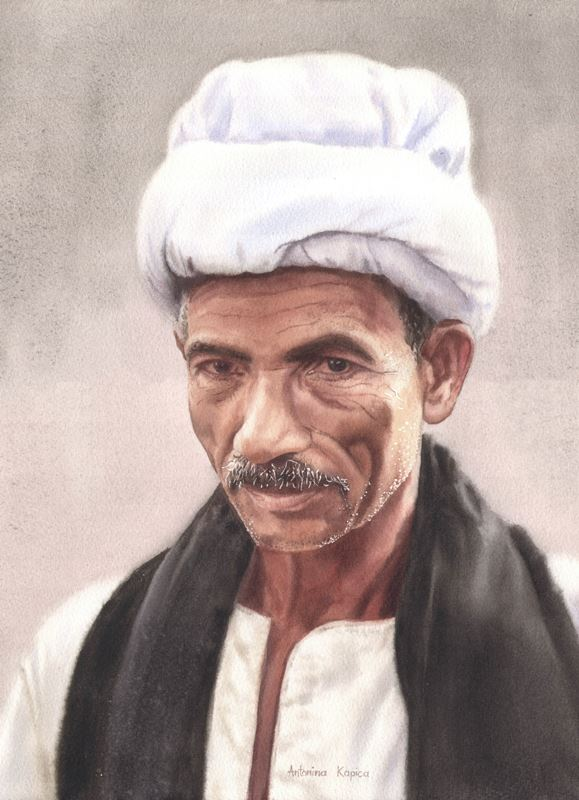 akwarela antonina kapica portret