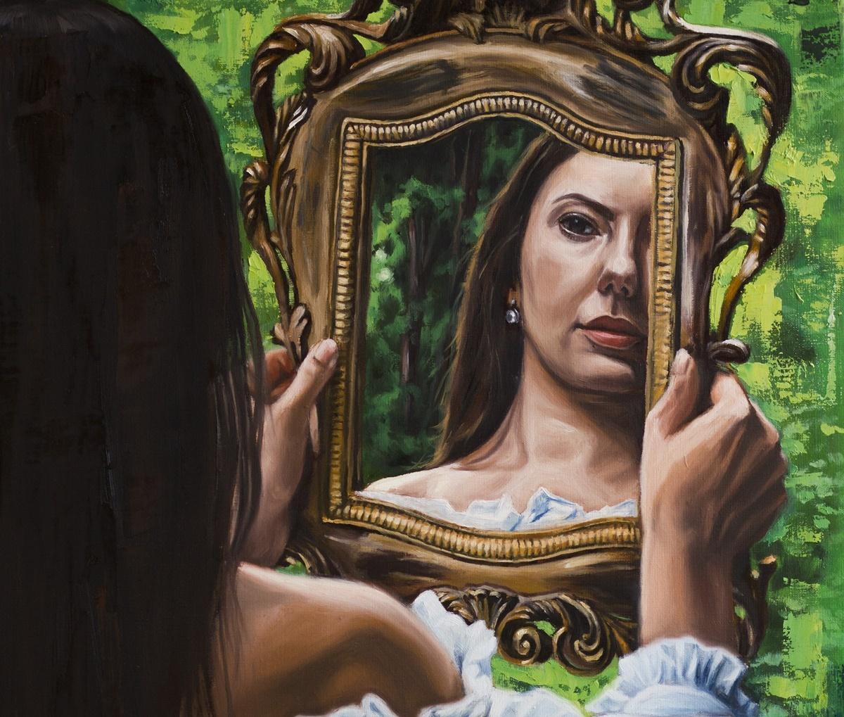 Piękne kobiety malowane farbami olejnymi.
