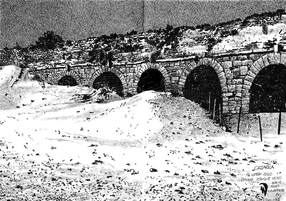 rysunek w perspektywie - akwedukt
