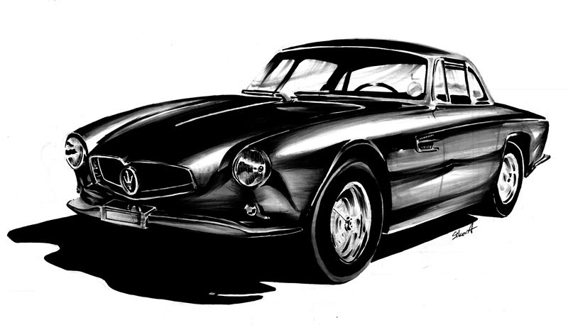 nauka rysunku samochodów