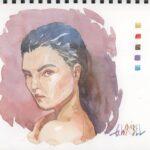 Kurs malowania akwarelą malowanie portretów akwarela eu czesc 2